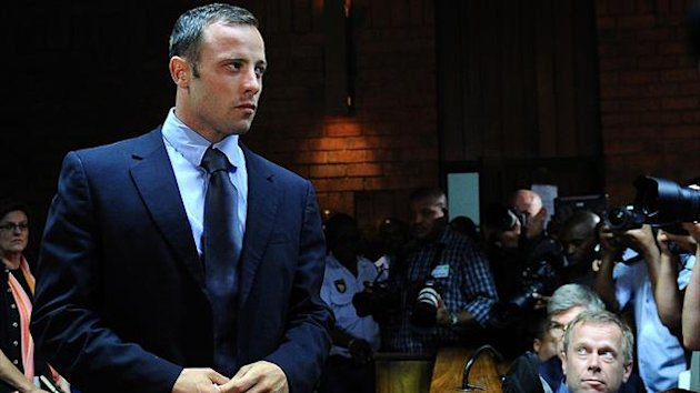 Oscar Pistorius at Pretoria Magistrates Court (AFP)