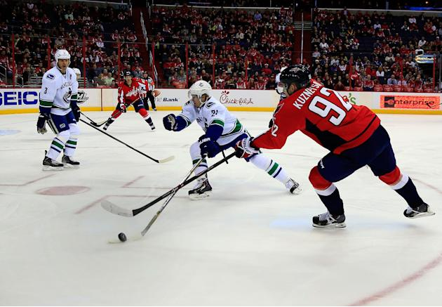 Vancouver Canucks v Washington Capitals
