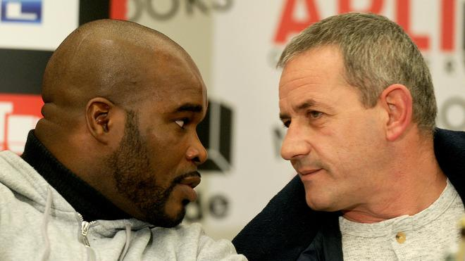 French Boxer Jean-Marc Mormeck (L) Speaks AFP/Getty Images