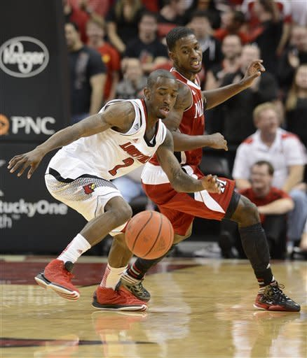 No. 2 Louisville routs Miami (Ohio) 80-39