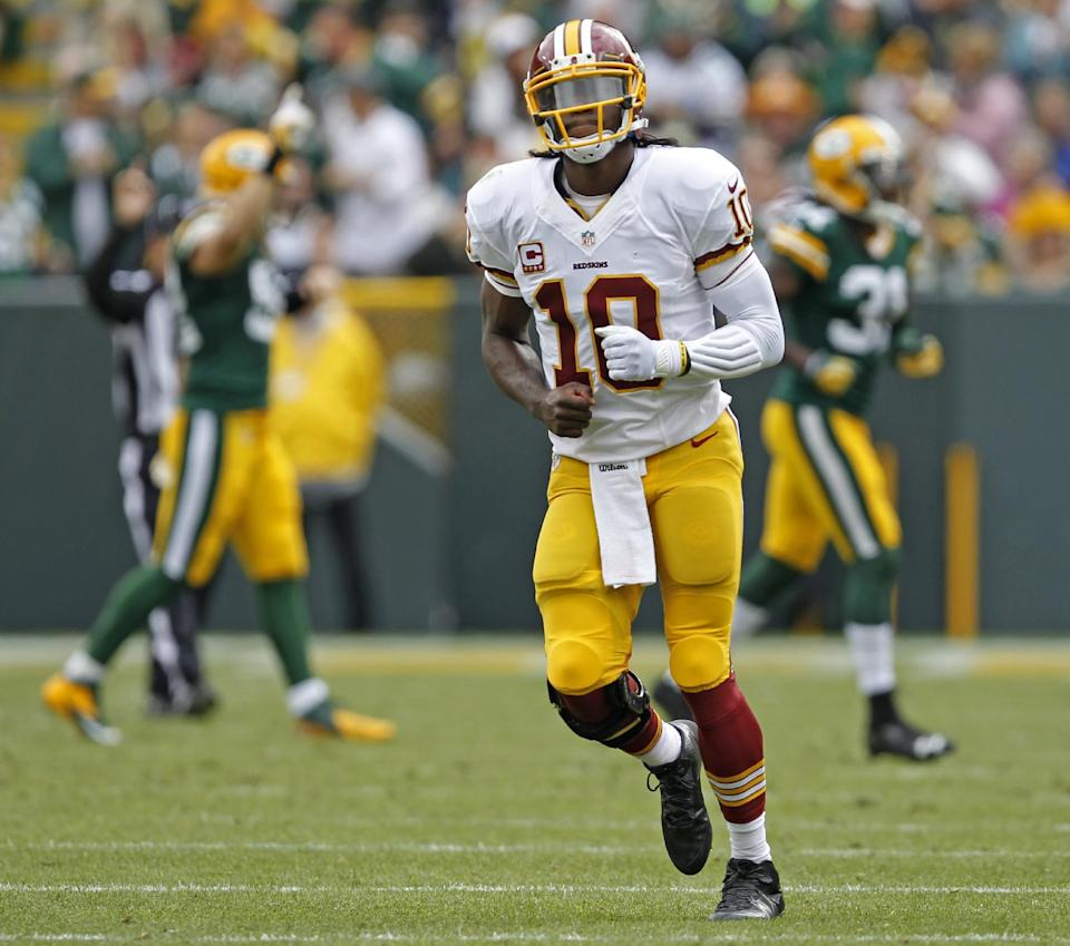 RG3 ready to run more to spark 0-2 Redskins