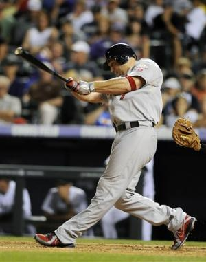 Holliday has 4 RBIs to lead Cardinals past Rockies