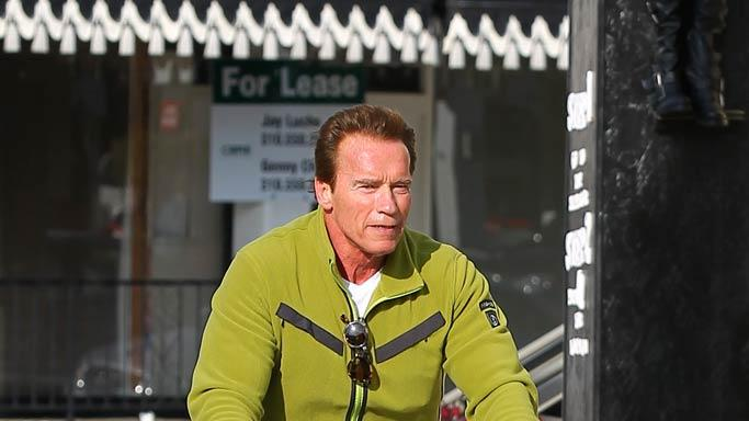 Arnold Schwarzenegger Bike Riding