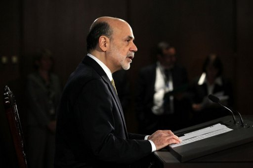 Federal Reserve Board Chairman Ben Bernanke speaks during a news conference