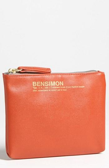 Bensimon 'Armour' Faux Leather Zip Pouch, $25
