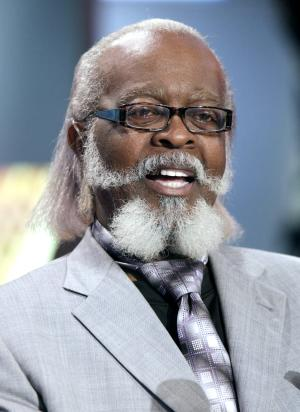 """FILE - In this Oct. 28, 2010 file photo, New York gubernatorial candidate Jimmy McMillan, of the Rent is Too Damn High Party, appears on the """"Imus in the Morning"""" program on the Fox Business Network in New York. McMillan says he's being evicted from his rent-controlled Manhattan apartment because his landlord wants to charge a new tenant more. (AP Photo/Richard Drew, File)"""