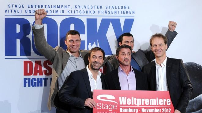 Sylvester Stallone's German Rocky cohort at the musical's debut in Hamburg in 2011.