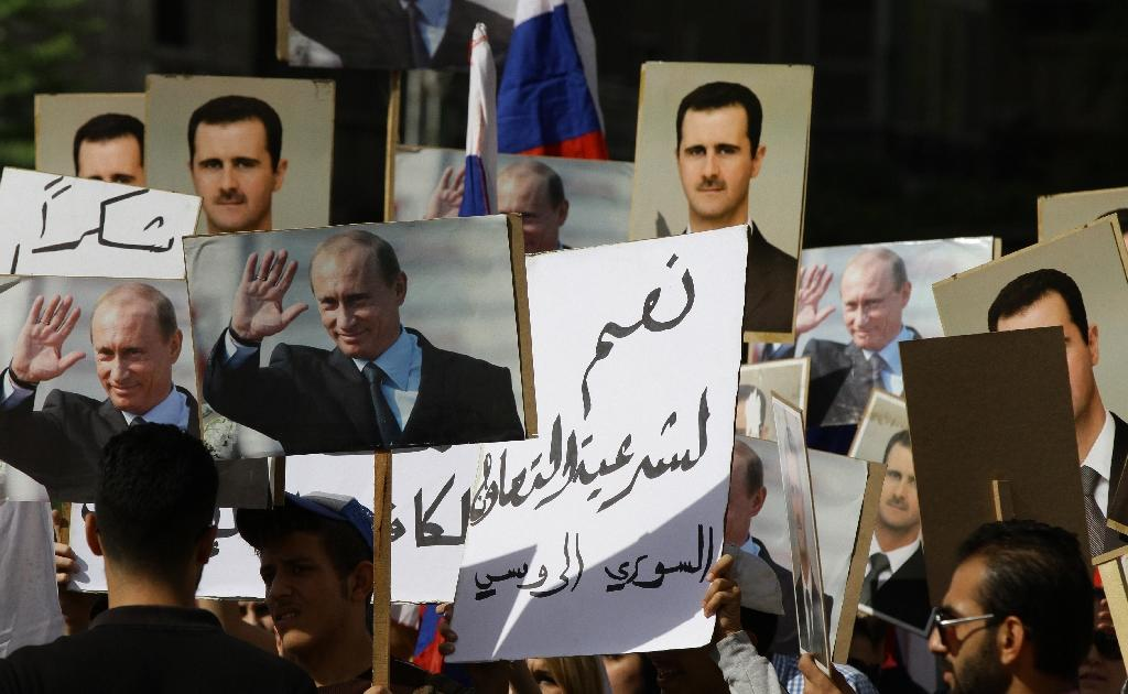 Russia in heaviest Syria strikes yet as rockets hit embassy