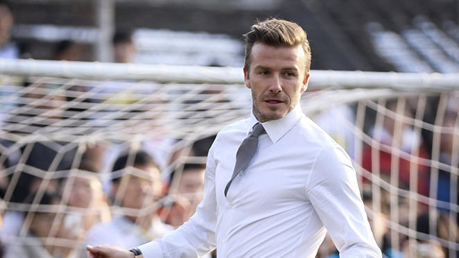 David Beckham Attends Grassroots And Junior Football Promotion In The School
