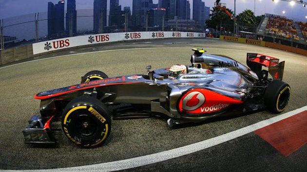 Lewis Hamilton in Singapore