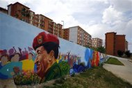 A mural of late Venezuelan President Hugo Chavez is seen in Ciudad Caribia outside Caracas September 19, 2013. REUTERS/Jorge Silva