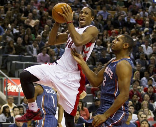 Bobcats end 16-game skid, beat Raptors 98-91