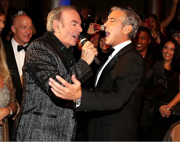 Neil Diamond, George Clooney