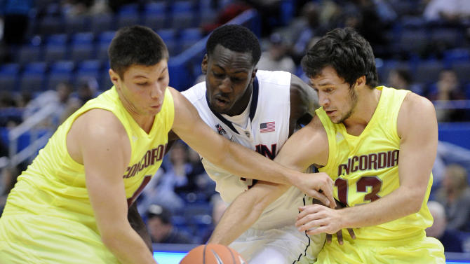 Calhoun leads UConn to rout of Concordia