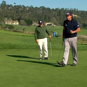 Phil Mickelson holes third straight birdie at AT&T Pebble Beach