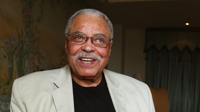 "Actor James Earl Jones poses for photos in Sydney, Australia, Monday, Jan. 7, 2013. Jones and Angela Lansbury, in Australia to star in a touring production of Alfred Uhry's Pulitzer-Prize winning play ""Driving Miss Daisy,"" credit the thrill of performing with their seemingly endless supply of energy, which has propelled them throughout their decades-long careers. (AP Photo/Rick Rycroft)"