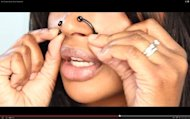 Screenshot from the video &quot;Non-Surgical Nose Job by Nosesecret&quot;