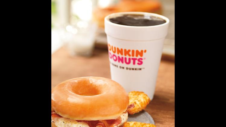 Dunkin' taking doughnut bacon sandwich national