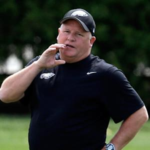 Philadelphia Eagles head coach Chip Kelly building Philadelphia Eagles in New England Patriots' image?