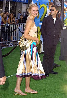 Cameron Diaz at the L.A. premiere of Dreamworks' Shrek 2