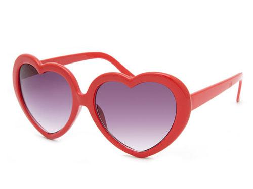 Tilly's Full Tilt Heart Framed Sunglasses