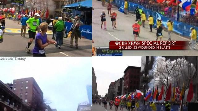 Boston bombings: Video from multiple angles