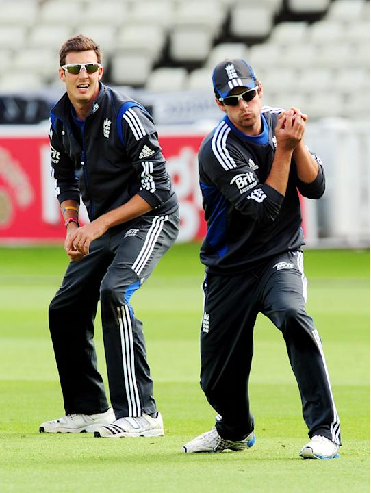 Alastair Cook, right, and Steven Finn have been recognised for their good form