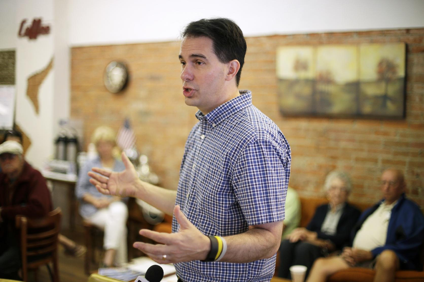 GOP's Walker promises to aggressively confront terrorism