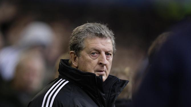 FILE- West Bromwich Albion's manager Roy Hodgson before his team's English Premier League soccer match against Everton at The Hawthorns Stadium, West Bromwich, England, in this file photo dated Sunday Jan. 1, 2012.  Roy Hodgson was unexpectedly approached about filling the England soccer coaching vacancy on Sunday April 29, 2012, with the well-traveled West Bromwich Albion manager opening talks about the job barely a month before the Euro 2012 begins, FA chairman David Bernstein said in a statement.(AP Photo/Jon Super, file)