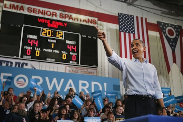 Little drama but plenty of passion in final days of Obama campaign