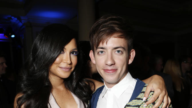 Naya Rivera and Kevin McHale attend the Fox Winter TCA All Star Party at the Langham Huntington Hotel on Tuesday, Jan. 8, 2013, in Pasadena, Calif. (Photo by Todd Williamson/Invision/AP)