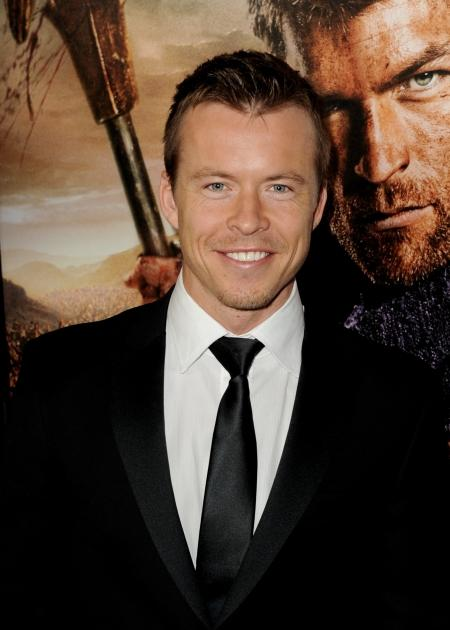 Todd Lasance arrives at the premiere of Starz's 'Spartacus: War Of The Damned' at the Regal Cinemas L.A. Live, Los Angeles, on January 22, 2013  -- Getty Images