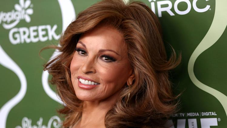 Raquel Welch arrives at the 2013 Women In Film pre-emmy event at Scarpetta at the Montage Hotel on Friday, Sept. 20, 2013 in Beverly Hills, Calif. (Photo by Matt Sayles/Invision/AP)