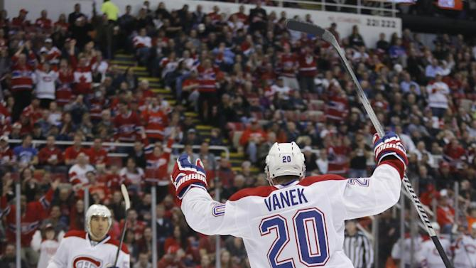 Plekanec, Vanek lead Canadiens over Red Wings 5-4