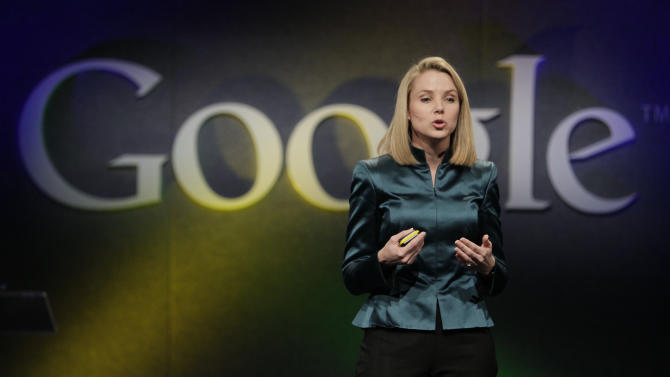 FILE- In this Monday, Dec. 7, 2009, file photo, Marissa Mayer, VP of Search Products and User Experience for Google, speaks in Mountain View, Calif. Yahoo announced Monday, July 16, 2012, it is hiring Mayer to be its next CEO, the fifth in five years as the company struggles to rebound from years of financial malaise and internal turmoil. Mayer, who starts at Yahoo Inc. on Tuesday, July 17, 2012, was one of Google's earliest employees and was most recently responsible for its mapping, local and location services. (AP Photo/Marcio Jose Sanchez, File)