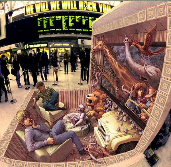 'The Armchair Traveler' by Kurt Wenner