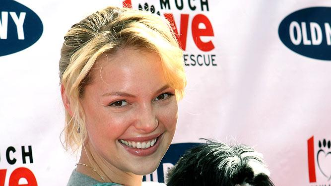 Katherine Heigl and dog Maggie