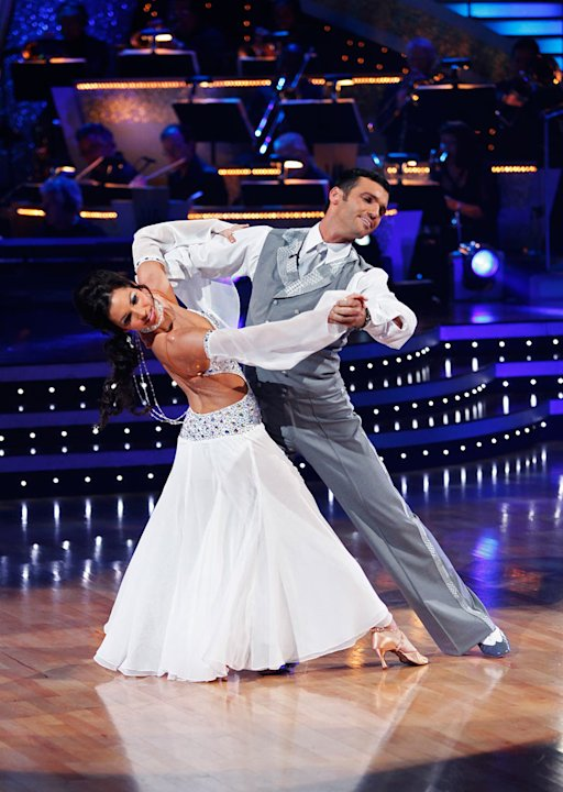 Melissa Rycroft and Tony Dovolani perform the Viennese Waltz to &quot;Angel&quot; by Sarah McLachlan on &quot;Dancing with the Stars.&quot; 