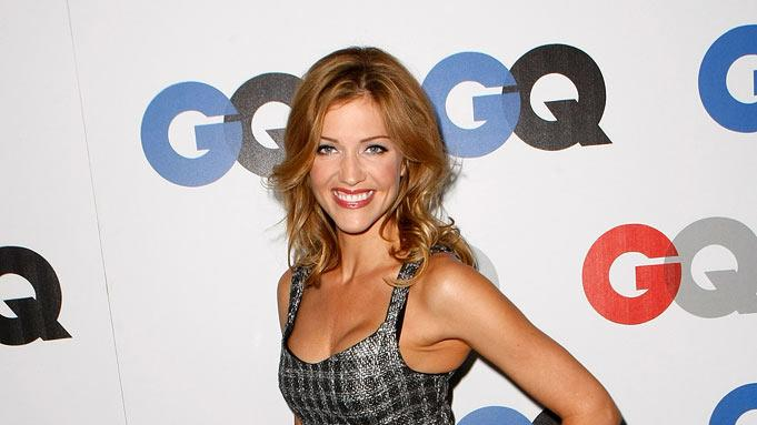 Tricia Helfer arrives at the GQ Men of the Year party held at the Chateau Marmont Hotel on November 18, 2008 in Los Angeles, California.