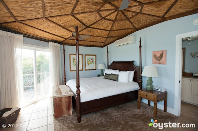 Master Bedroom at the Starlight Villa at Fowl Cay Resort -- Bahamas