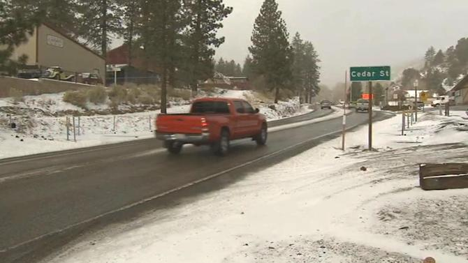 Cold front moves into Southern California, brings rain and snow