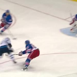 Olli Jokinen beats Talbot after wacky bounce