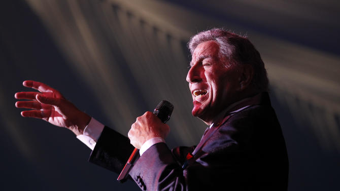 Tony Bennett sings during the inaugural Part the Cloud event to benefit the Alzheimer's Association which raised over $1 million for Alzheimer's research in Northern California on Saturday, May 5, 2012 in Menlo Park, Calif. The Part the Cloud event was created to raise awareness and inspire others to join in tackling Alzheimer's disease -  the sixth leading cause of death in the United States, the only disease in the top ten causes of death without a way to prevent it, cure it, or slow its progression. (Tony Avelar/AP Images for Alzheimer's Association)