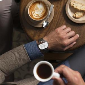 A Moto 360 smartwatch is seen in this Motorola Mobility LLC handout image