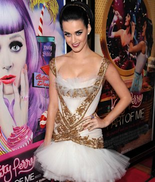 Katy Perry Works Union Jack Lashes at UK Premiere of her Film