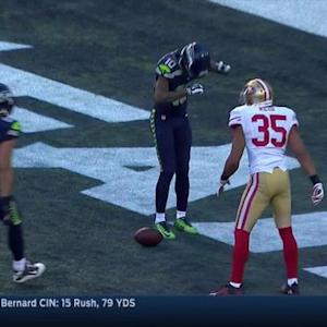 Seattle Seahawks wide receiver Paul Richardson catches 10-yard touchdown pass