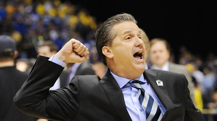 NCAA Basketball: NCAA Tournament-Midwest Regional-Kentucky vs Michigan