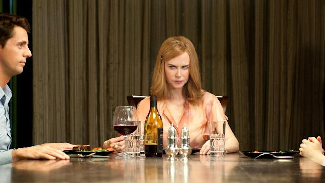 "This film image released by Fox Searchlight Pictures shows Matthew Goode, left, Nicole Kidman and Mia Wasikowska, right, in a scene from ""Stoker."" (AP Photo/Fox Searchlight Pictures)"