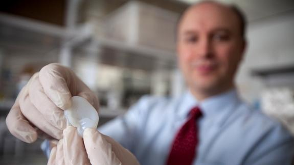 3D-Printed Ear Created in Lab