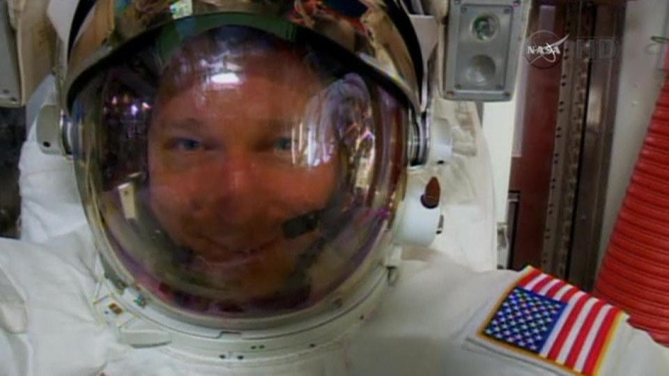 Water found in astronaut's helmet after spacewalk